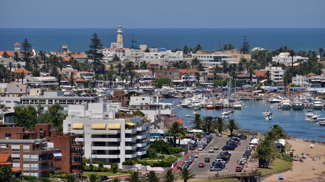 A view of the Uruguayan seaside resort of Punta del Este, 135 km east of Montevideo.