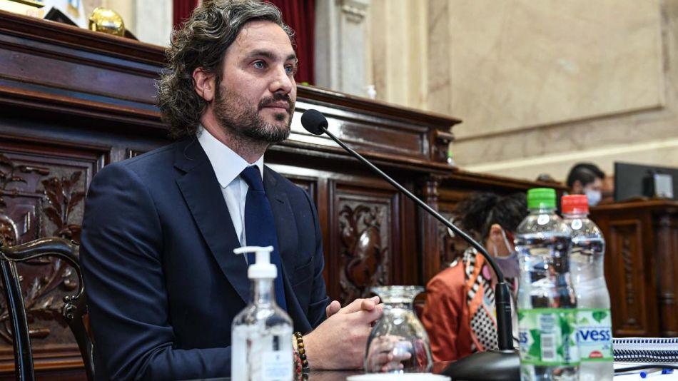 Sesión informativa de Santiago Cafiero en el Senado 20201007