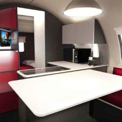 En su interior podemos encontrar un dormitorio, un baño, una cocina y el salón-comedor.