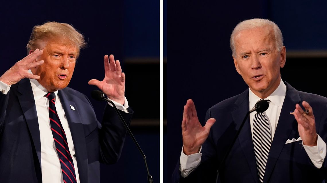 US President Donald Trump and his Democratic challenger, former US vice-president Joe Biden.