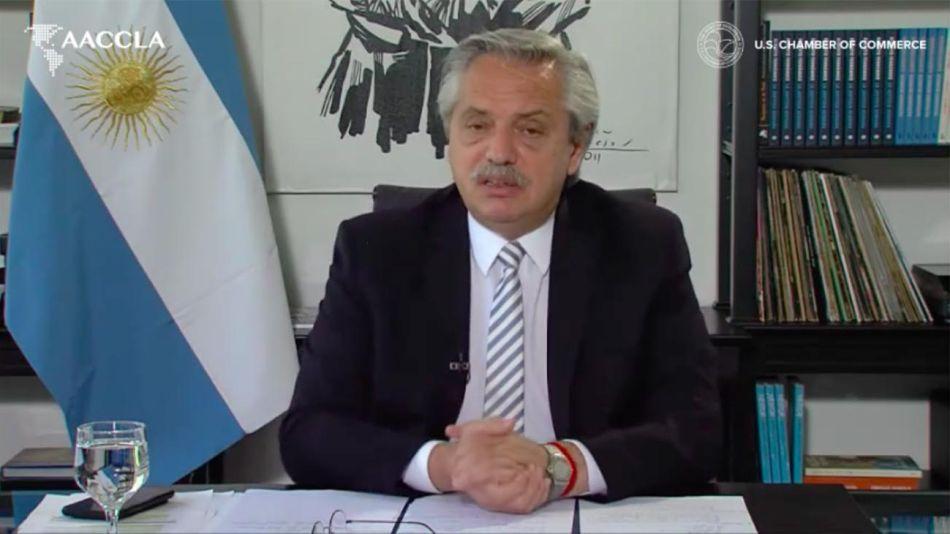 Alberto Fernández participó de la conferencia FOLAC 20201008