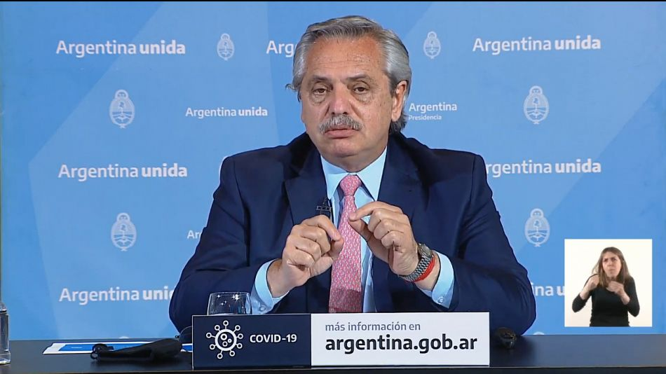 Alberto Fernández presentó la nueva fase de la cuarentena.