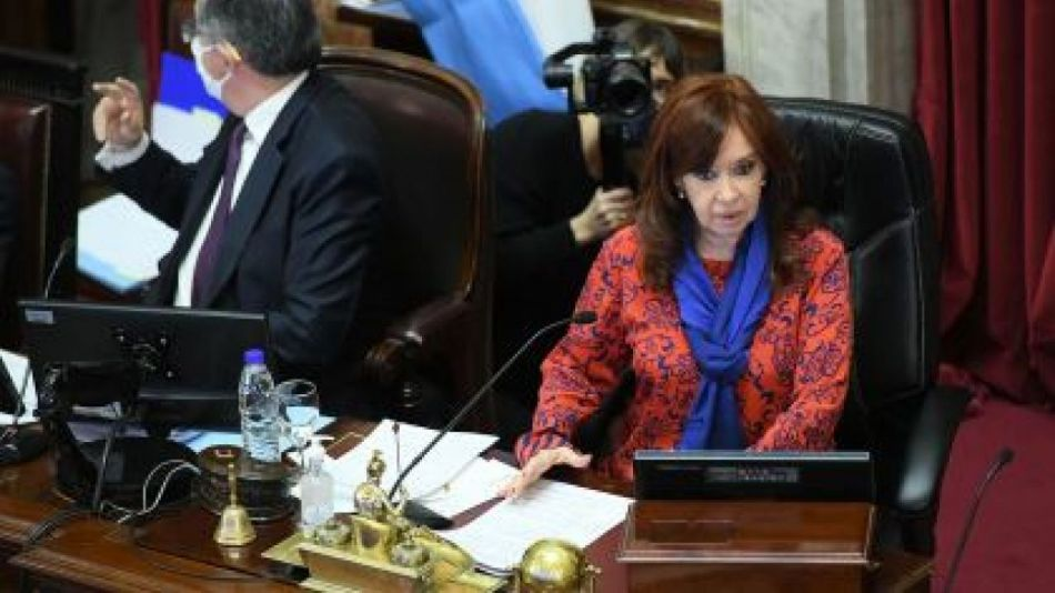 Cristina Fernández en el senado
