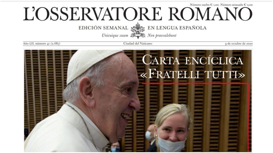 Nueva edición de L'Osservatore Romano de esta semana