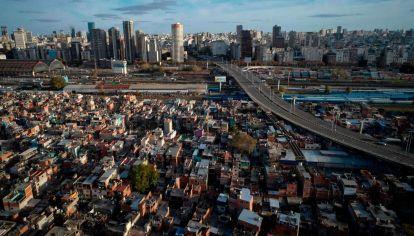 Vista aérea del Barrio 31