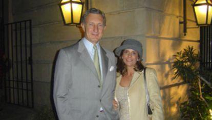 Jorge Neuss y su esposa.