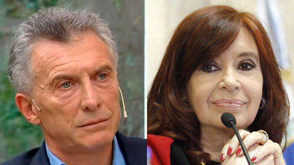 El ex presidente Mauricio Macri y la vice presidente Cristina Fernández