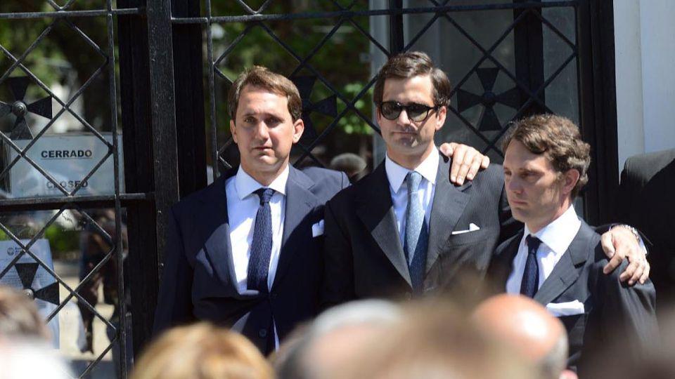 (De izq. a der.) Germán, Juan y Patricio Neuss, los tres hijos varones del Jorge Neuss y Silvia Saravia.