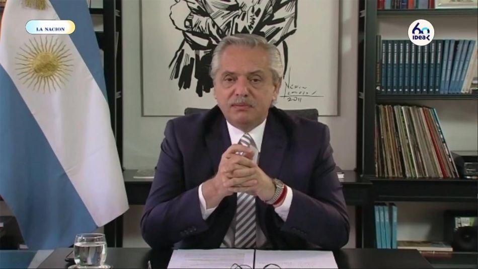 Alberto Fernández inaugura el coloquio de IDEA 20201014