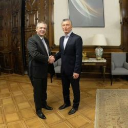 Alberto Fernández con Mauricio Macri | Foto:Cedoc