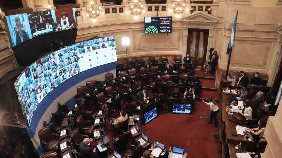 El Senado sesiona de forma mixta.