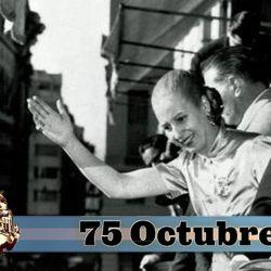 Evita y Perón en el balcón de la Casa Rosada | Foto:cedoc