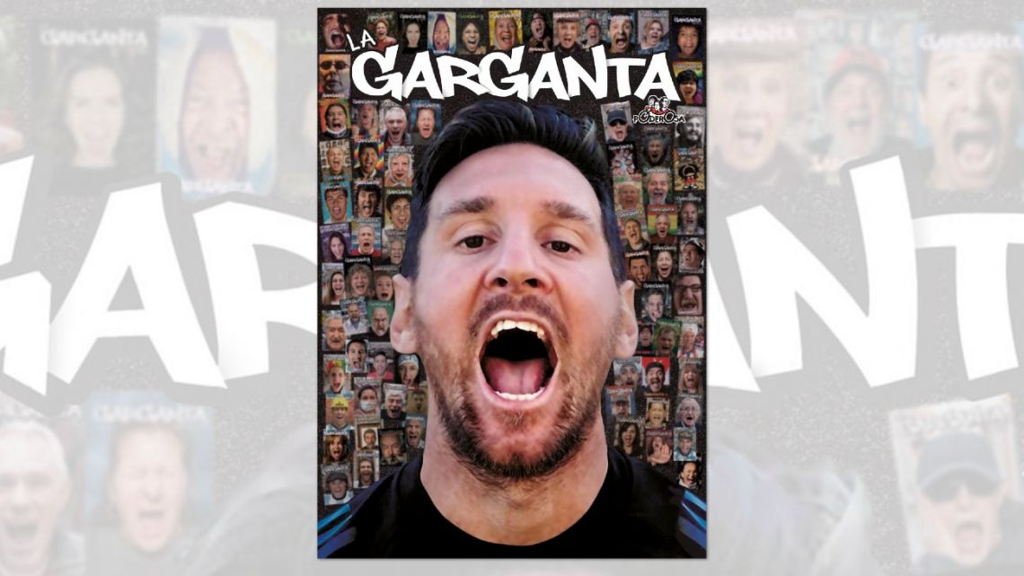 Lionel Messi graces the cover of the 100th edition of La Garganta Poderosa.