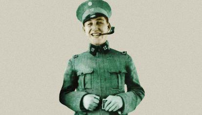 Un Juan Perón, muy joven.