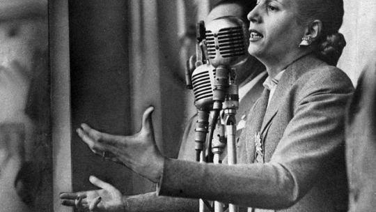 Evita y la primera transmisión de la TV
