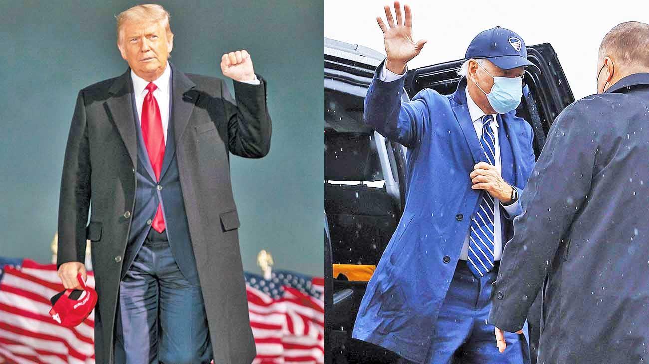 Rating. El republicano perdió en audiencia ante Biden, que tuvo casi un millón de espectadores más que el presidente.