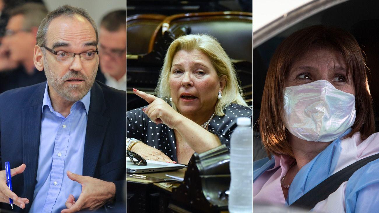 Fernando Iglesias, Elisa Carrió y Patricia Bullrich, el ala dura de Juntos por el Cambio critica al Gobierno.