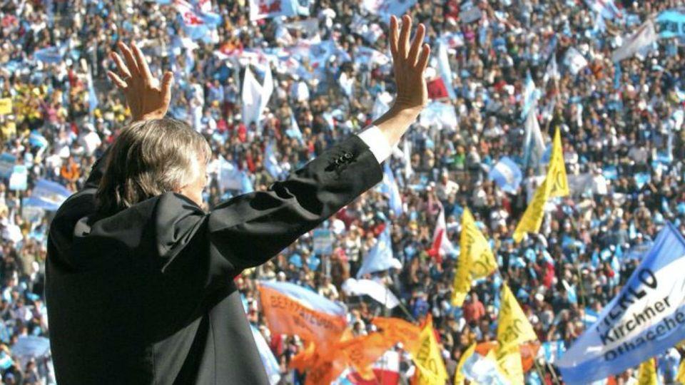 La foto de Néstor Kirchner que publicó en sus redes Cristina Kirchner este 17 de octubre de 2020.