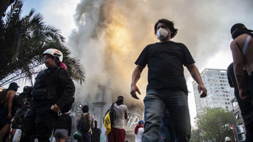 santiago chile marchas 18102020