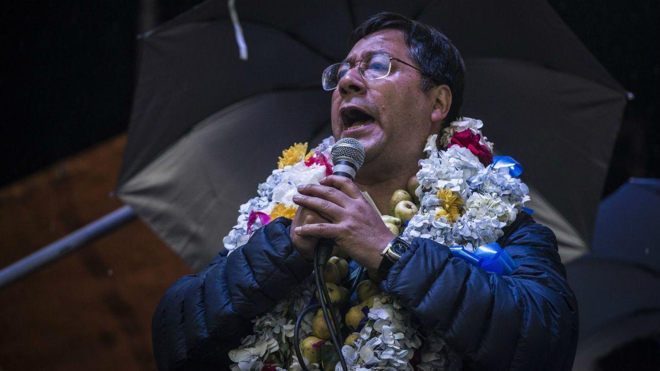Luis Arce, delfín del exmandatario Evo Morales y candidato del Movimiento al Socialismo (MAS)