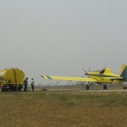 A spokesperson for Ledesma, which shared these photos with the Times, said that they had sent firefighters to help tackle the blaze, while putting their airstrip at the disposition of the authorities.