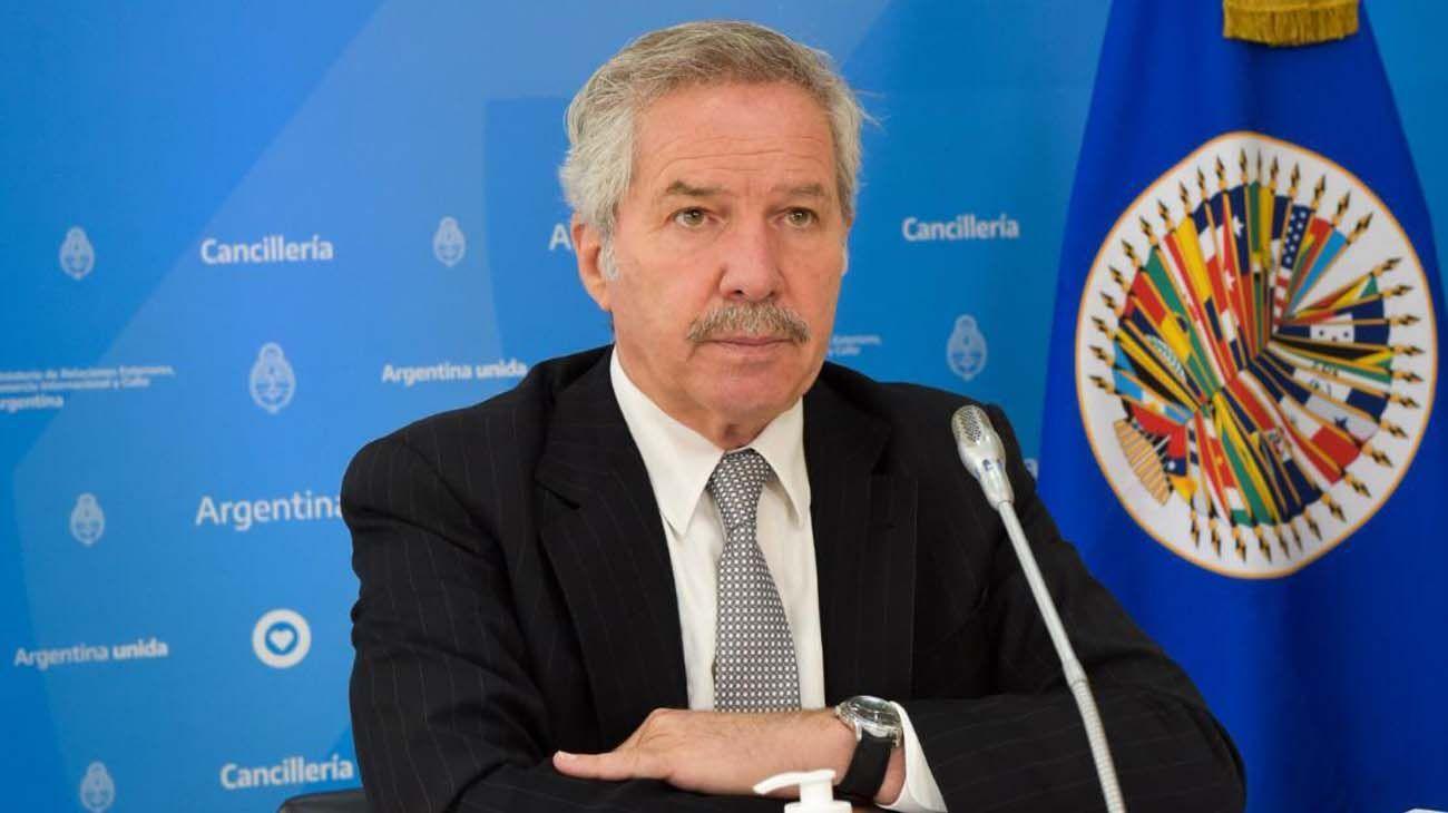 El Canciller Felipe Solá en Asamblea General de la OEA.