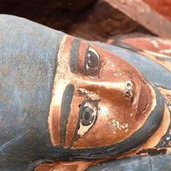 Además, informaron que también se encontraron estatuas de madera.