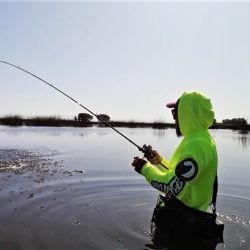Pesca de tarariras en la laguna El Abuelo, tras más de 200 días de cuarentena.
