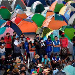 Campamento de indígenas colombianos en el marco de una  | Foto:Raúl Arboleda / AFP