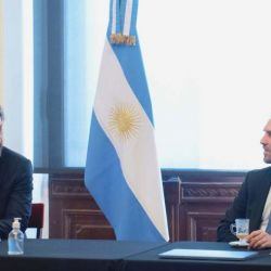 Santiago Cafiero y Martín Guzmán.