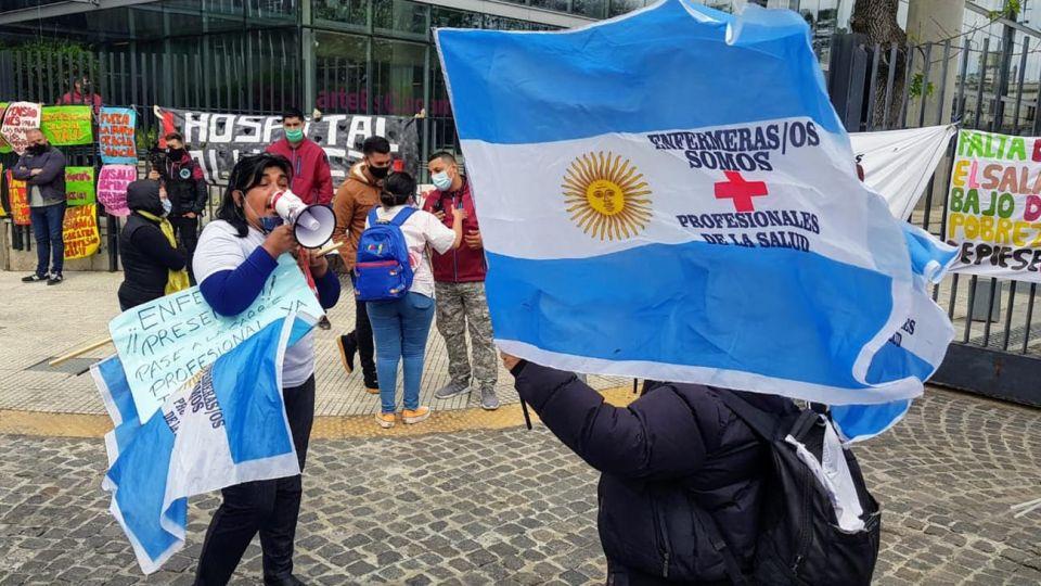 Protesta de enfermeros de hospitales publicos