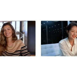 Gisele y Dior en una charla de belleza.