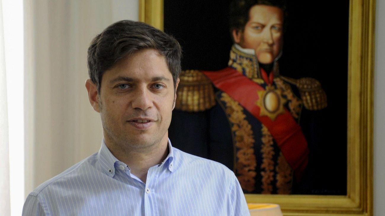 El gobernador bonaerense Axel Kicillof.