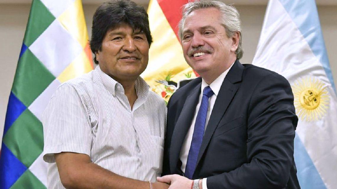 Evo Morales and Alberto Fernandez.