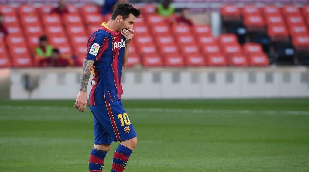 Lionel Messi y una postal recurrente en los últimos meses con la camiseta blaugrana / AFP