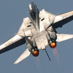 El F-14 se destacó por su tamaño, que le permitió cargar misiles de mayor poder de fuego.