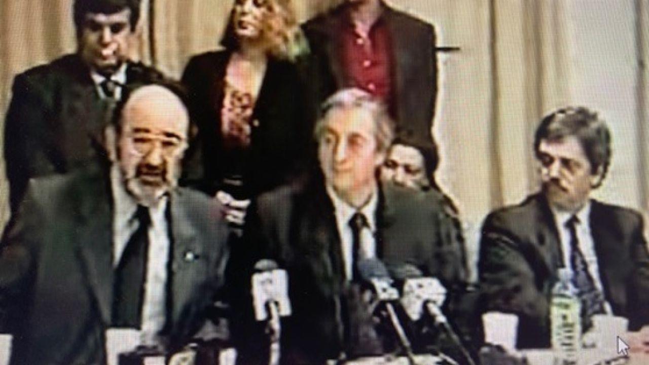 Eduardo Sigal con Néstor Kirchner y Alberto Fernández | Foto:Cedoc