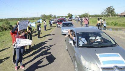 Marchas en Santa Elena, Entre Ríos
