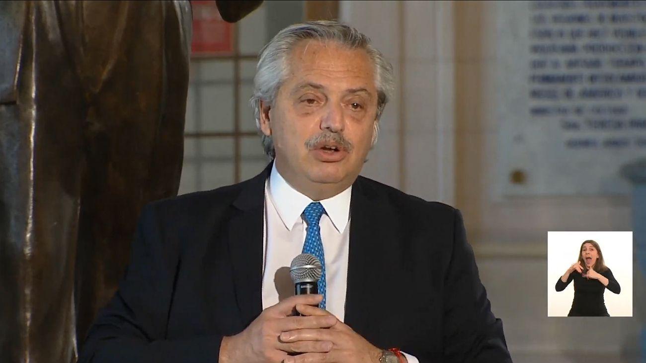 Alberto Fernández recordó a Néstor Kirchner.