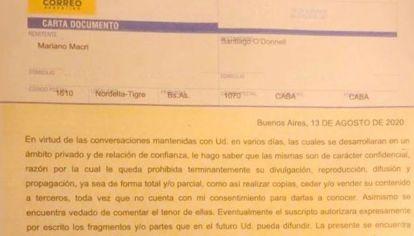 Las cartas documentos entre Mariano Macri y Santiago O'Donnell antes de que salga el libro