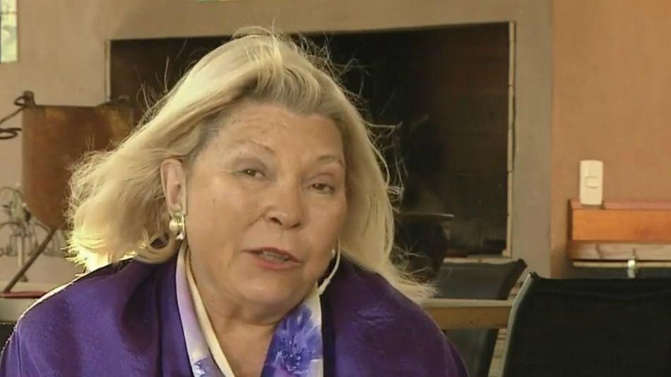 Elisa Carrió, líder de la Coalición Cívica