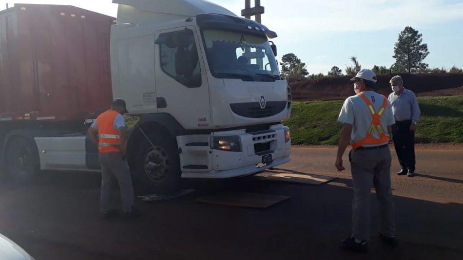 Operativo camiones en Misiones