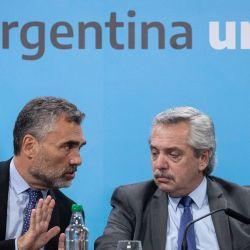 Alejandro Vanoli y Alberto Fernández   Foto:cedoc