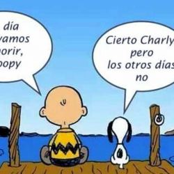 Snoopy y Charlie Brown.