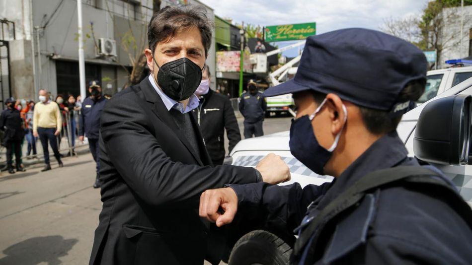 El gobernador de la provincia de Buenos Aires, Axel Kicillof entrega de Patrulleros en la localidad de Esteban Echeverría