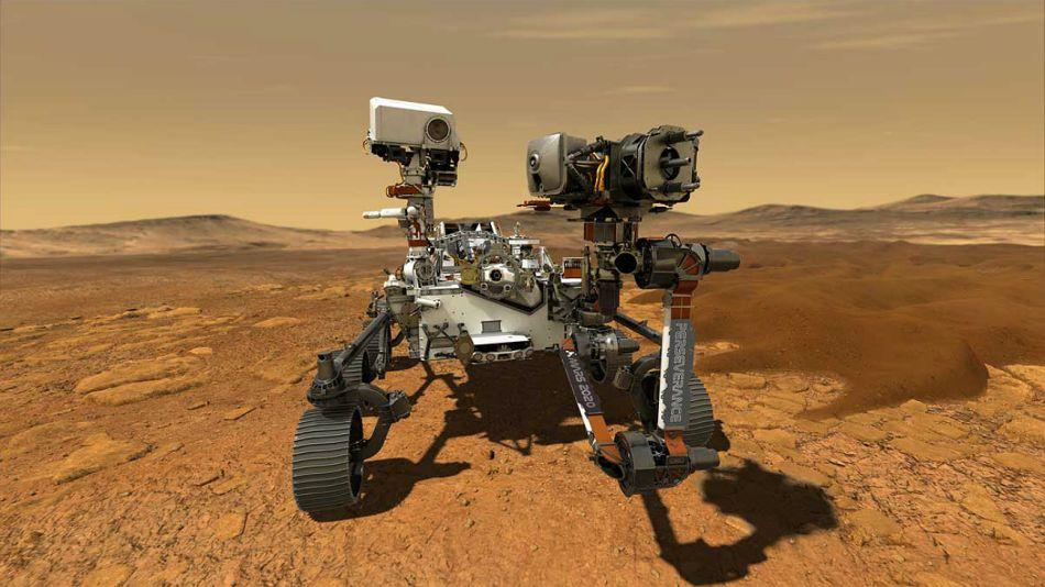 La misión Mars 2020 del rover Perseverance de la NASA.