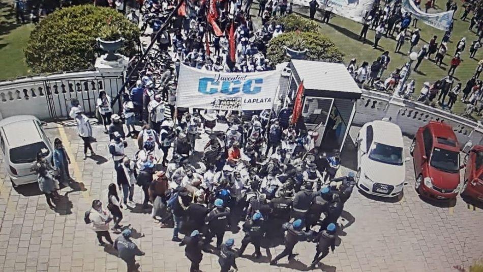 Las cámaras de seguridad registraron el ingreso de la CCC