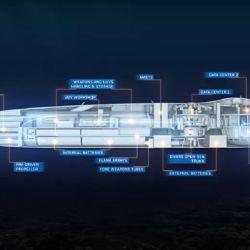 La embarcación medirá 80 metros de largo y tendrá desplazamiento de unas 3.200 toneladas.