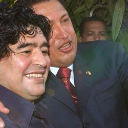 Diego Maradona y Hugo Chávez fueron grandes amigos.  // Cedoc Perfil