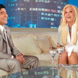 Diego y Susana. Maradona era un invitado recurrente a los programas de televisión.  // Cedoc Perfil